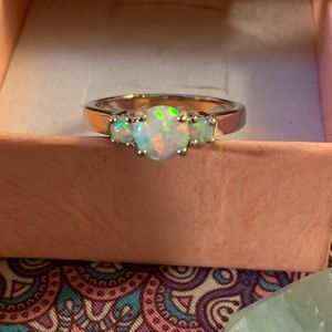 Alchemy63 Gorgeous Handmade Sterling & Opal Ring